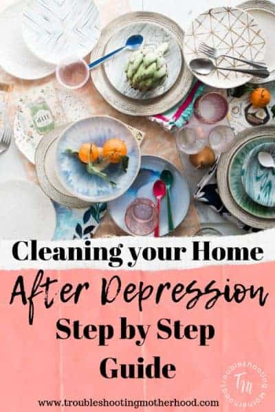 If you've dealt with depression then you know that a messy home and depression/anxiety go hand-in-hand. A lot of women feel overwhelmed by the mess and don't know where to start. Follow this simple guide that will take you step-by-step through your home to get it cleaned up.