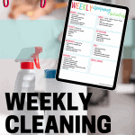 printable cleaning schedule checklist