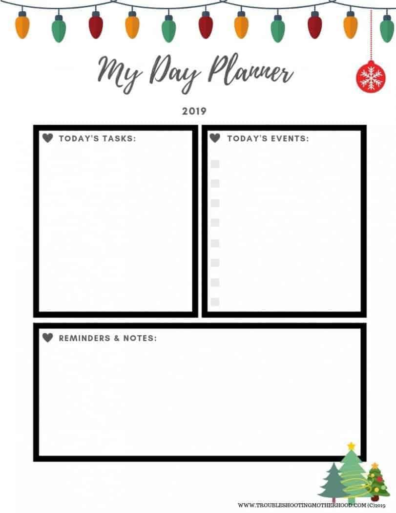 Christmas Day Planner Free Printable