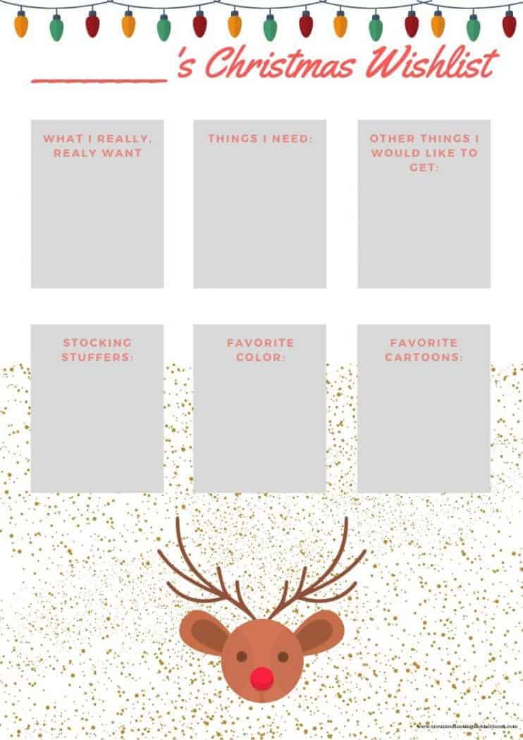 Stay organized and keep things simple with this adorable Free Printable Children's Christmas Wish-list. Find out what the kids really want for Christmas on this wish-list and make your Christmas shopping a breeze!