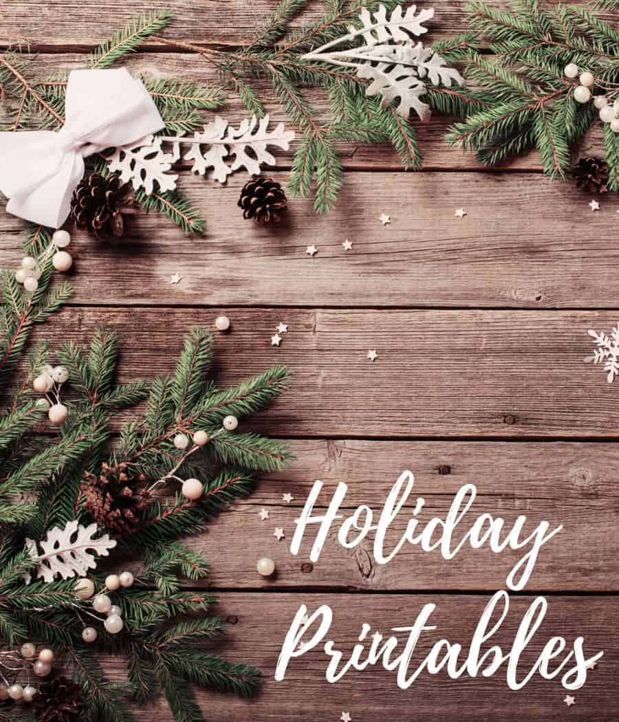Image for free holiday printables