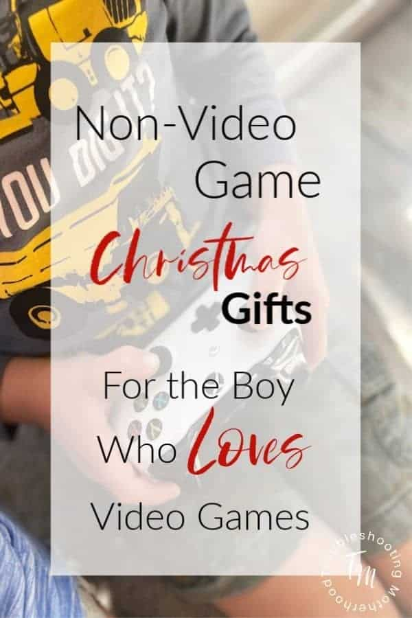 Christmas gift guide for boys who LOVE video games. Follow this gift guide to help you find the best non-video game gifts that any gamer will love. #gamergift #Fortnite #minecraft #10yearoldboygifts