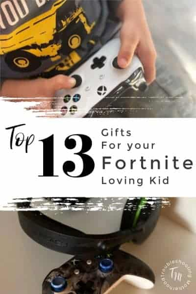 Do you have a child that is obsessed with Fortnite? Here is a list of my top 13 trendy and popular Fortnite themed gamer gifts! Your little gamer will love these fun and popular gifts. #gamer #gamergifts #Fortnite #Fortnitegifts #boygifts #Christmas