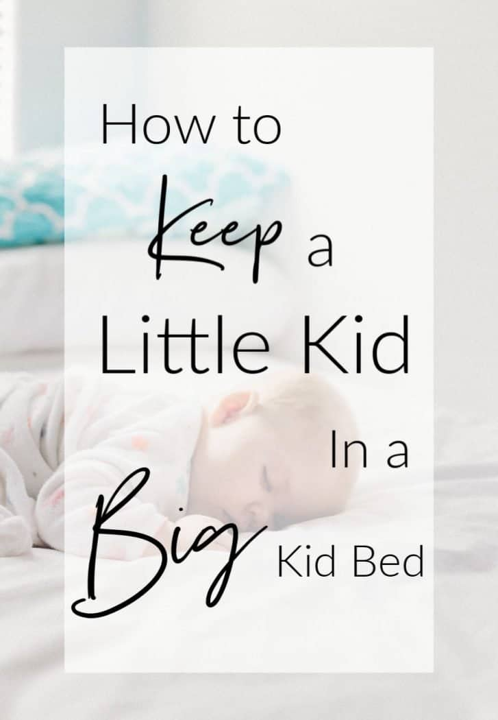 How to transition a toddler to a big kid bed.