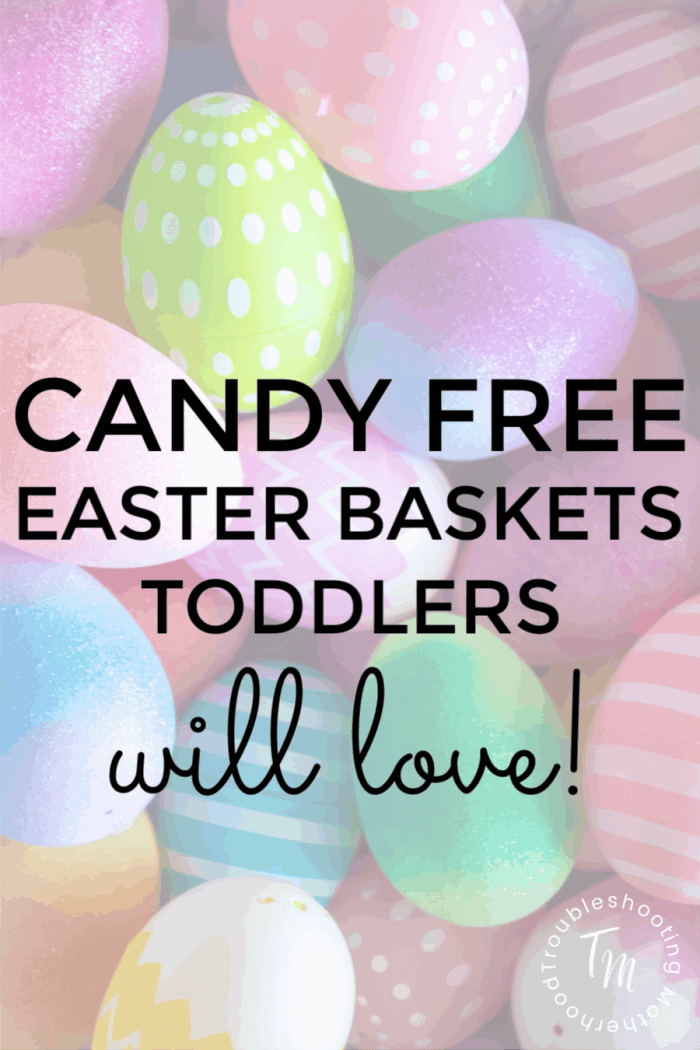 candy free easter baskets for toddlers