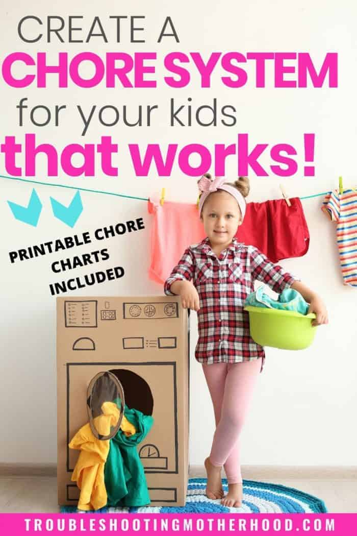 Create a chore system for your kids that works pin image.