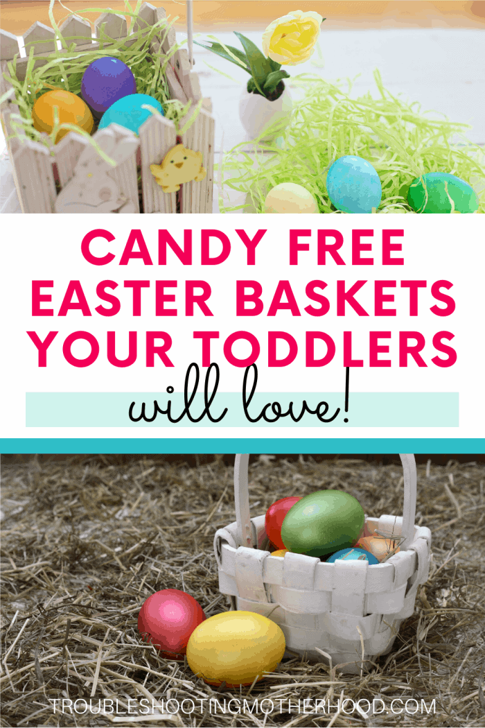 candy free easter basket ideas for toddlers.