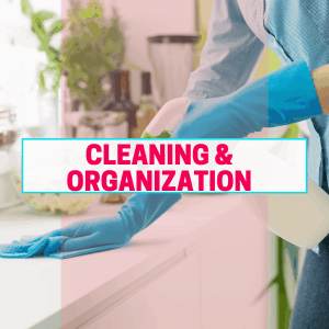 Cleaning and organization category