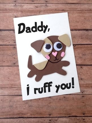 Dog themed Father's Day Card Craft.