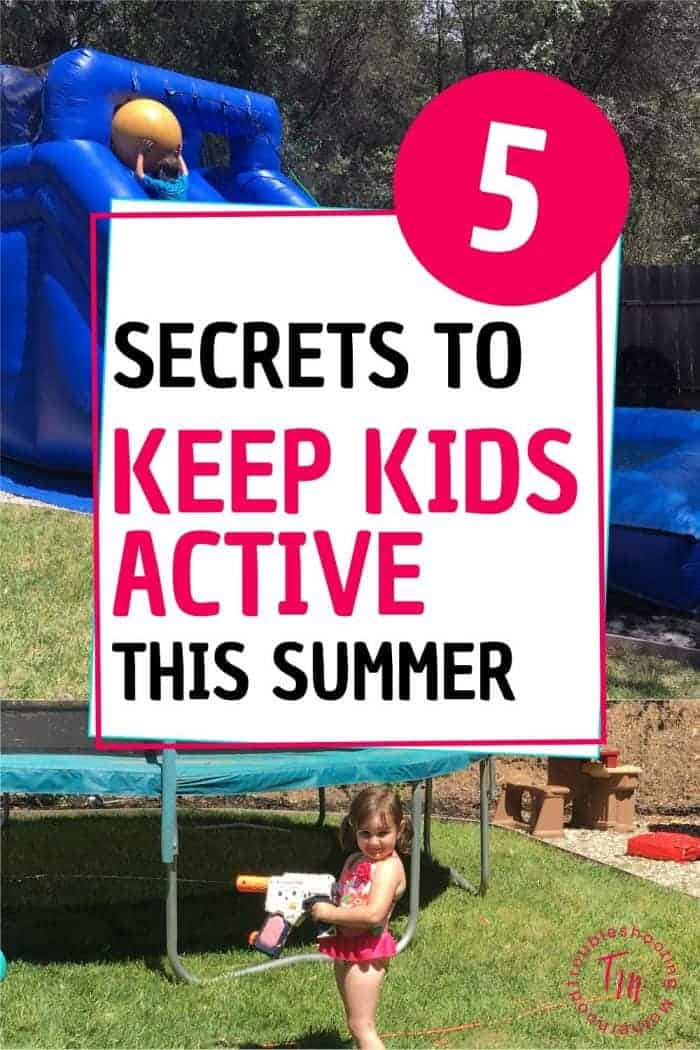 Outside outdoor activities at home to keep your kids active during the hot summer.