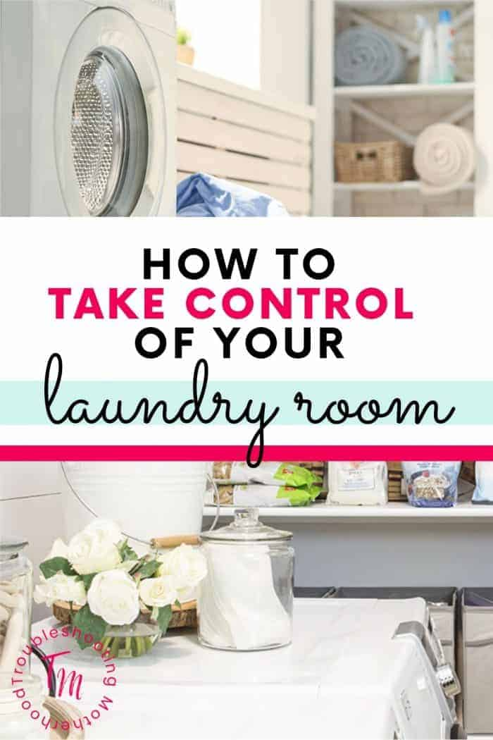 How to organize your laundry room.