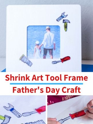 Shrink art father's Day photo frame.
