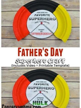 superhero fathers day craft.