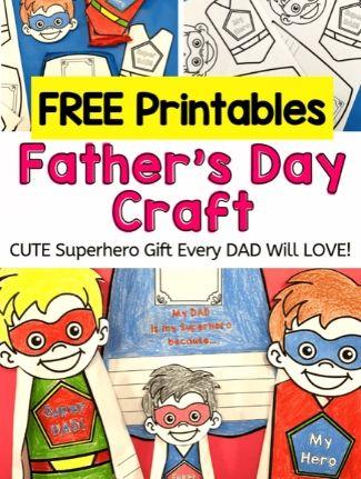 Superhero father's day printable.