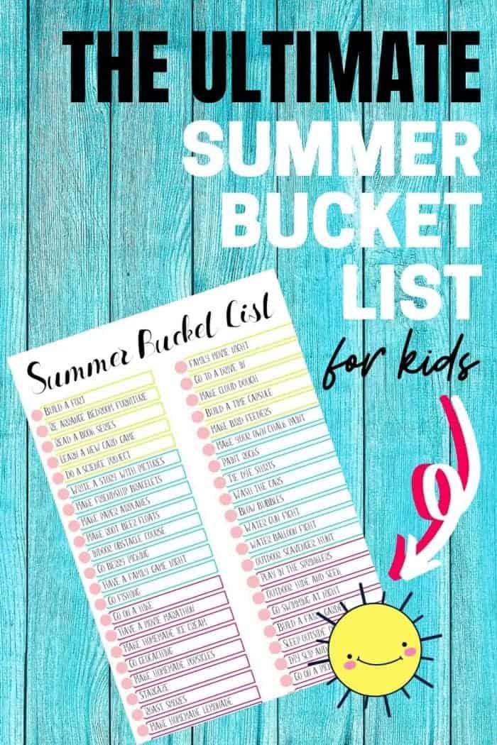 The ultimate summer bucket list image