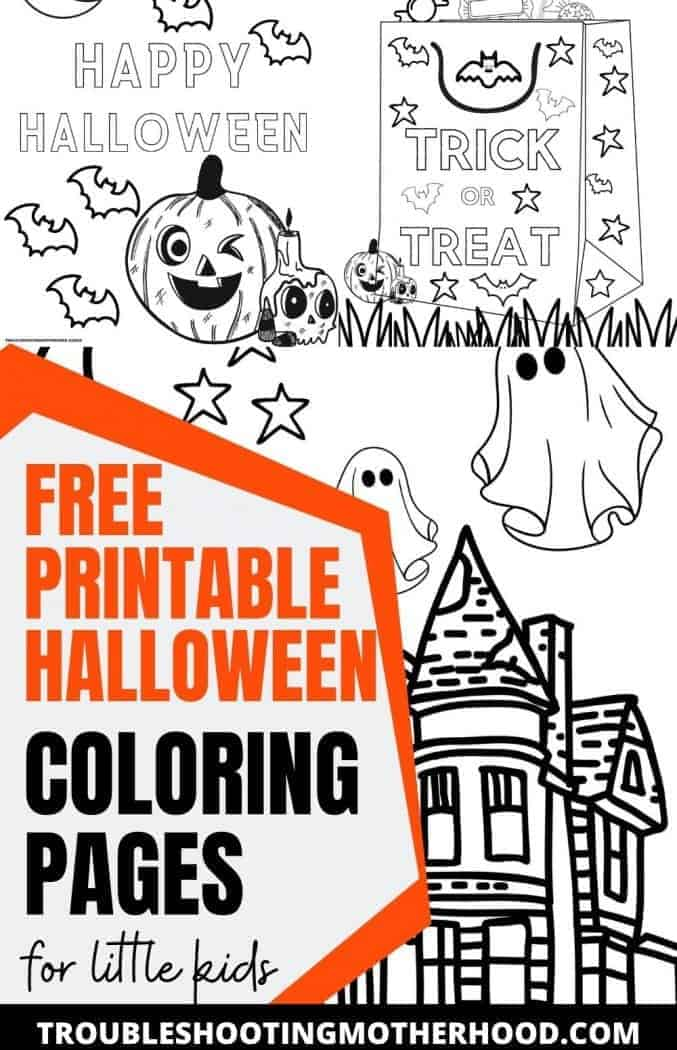 Halloween Coloring Pages Free Printable Troubleshooting Motherhood