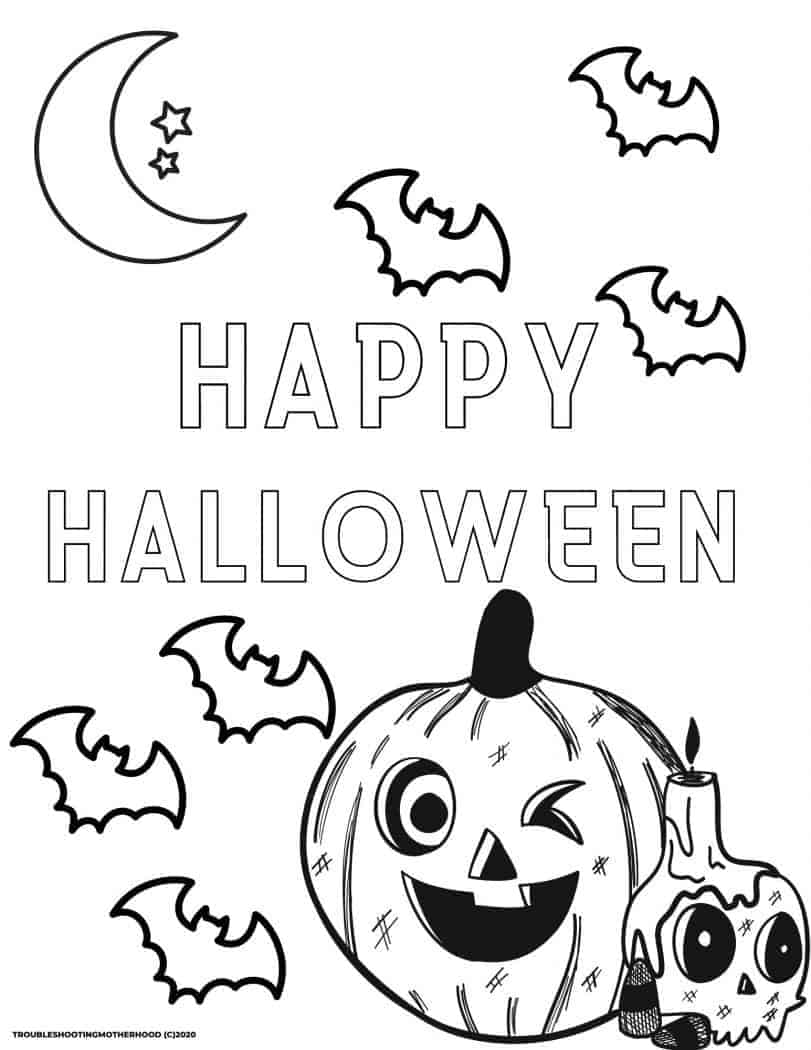 Halloween Coloring Pages Free Printable Troubleshooting Motherhood