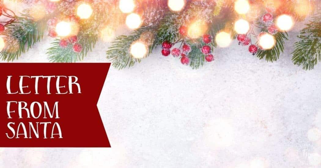 Letter from Santa blog image