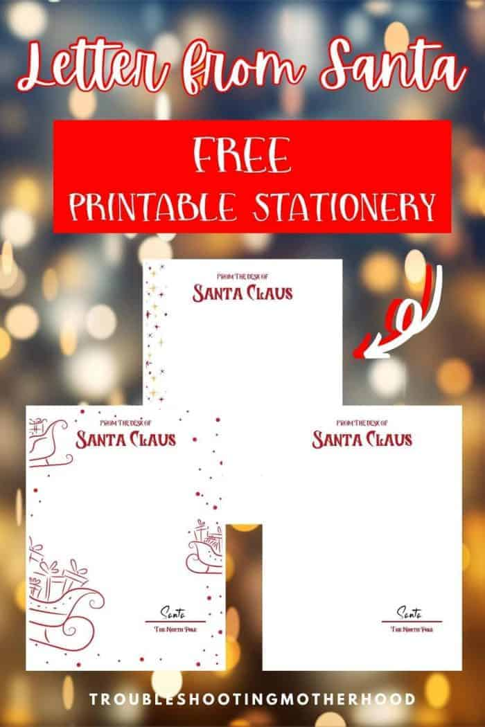 Letters to Santa Stationery