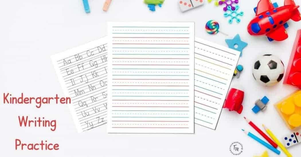 Kindergarten and preschool lined paper for writing practice.
