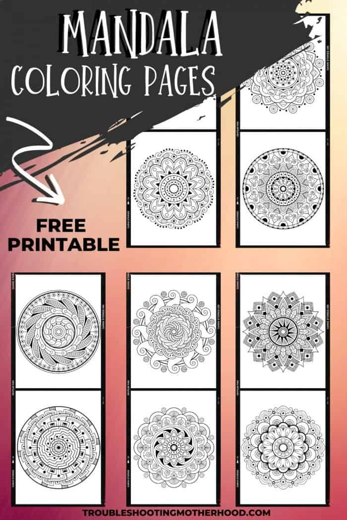 Free Printable Mandala Coloring Pages for Moms.
